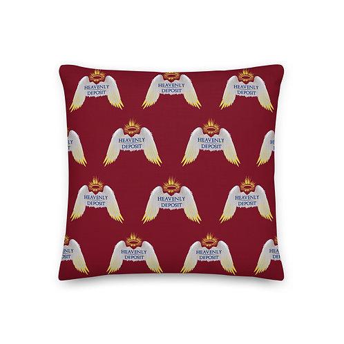 Designer Heavenly Deposit Throw Pillow 19 inch - Burgundy