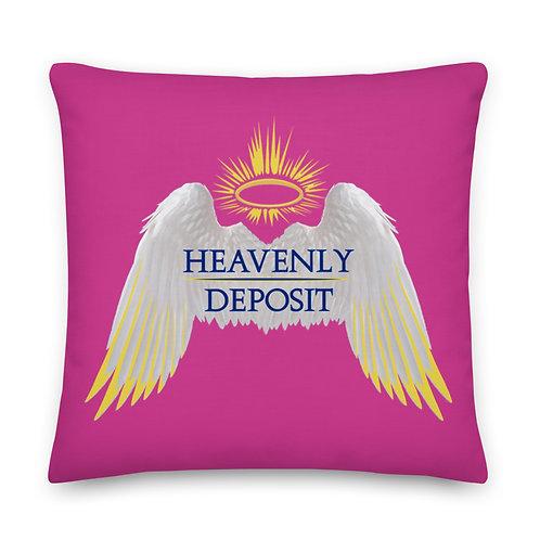 Heavenly Deposit Throw Pillow 22 inch - Deep Cervise