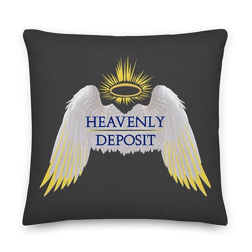 Heavenly Deposit Throw Pillow 22 inch - Eclipse