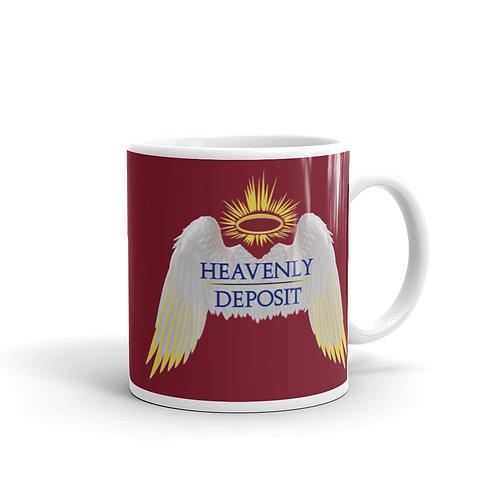Heavenly Deposit 11 oz Mug - Burgundy