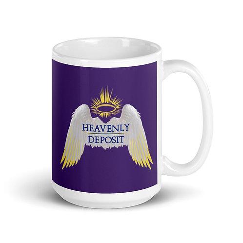 Heavenly Deposit 15 oz Mug - Purple