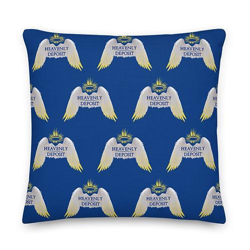 Designer Heavenly Deposit Throw Pillow 22 inch - Dark Cerulean