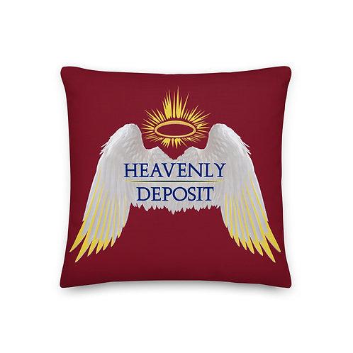 Heavenly Deposit Throw Pillow 19 inch - Burgundy