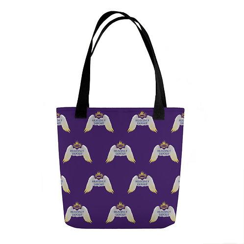 Heavenly Deposit Designer Tote - Purple