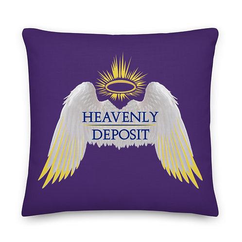 Heavenly Deposit Throw Pillow 22 inch - Purple