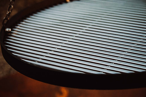 Robuust RVS grillrooster  50cm diameter (7mm RVS!)  incl. ophanging