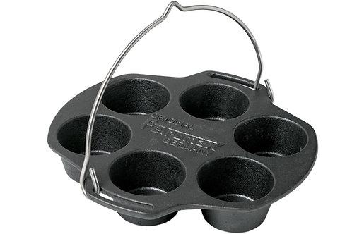 Gietijzeren muffin pan