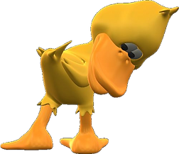 Iggy Squiggles' friend Quackers