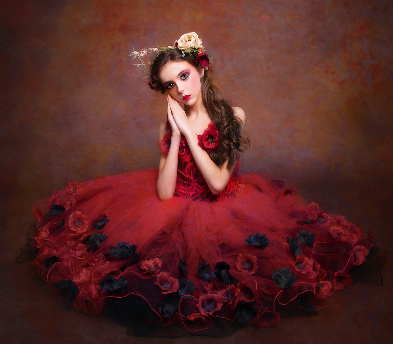 'Girl in the red dress' by Laurie Campbell (13 marks)  -  Catchlight Camera Club
