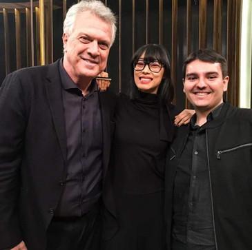 Rita Wu, Pedro Bial, Guilherme Contini