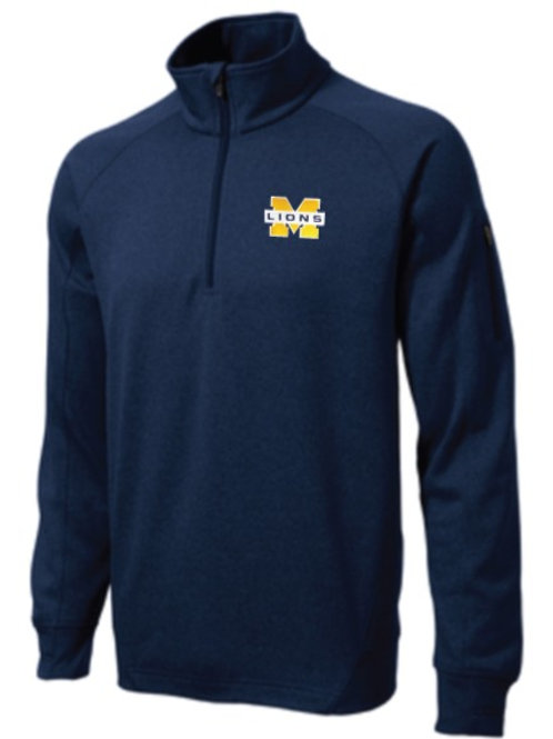 Sport Tek Men's Navy Fleece Quarter Zip