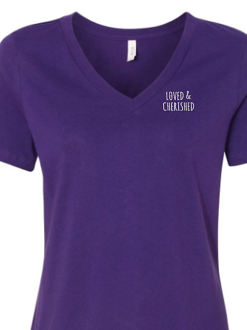 Mom's Purple V-Neck Tee