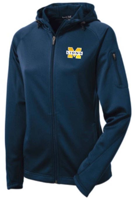 Sport Tek Ladies Navy Fleece Jacket