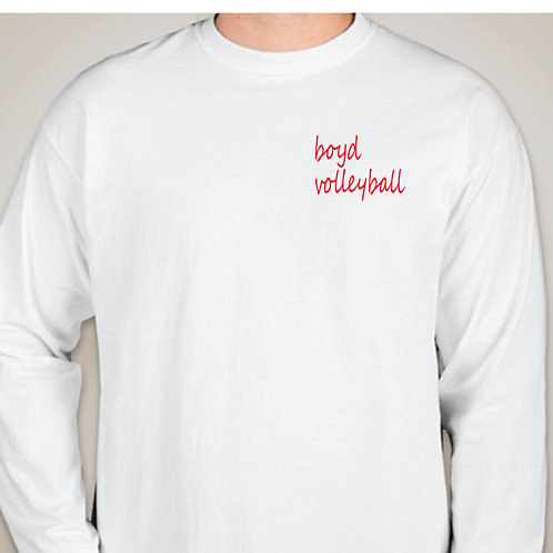 White Comfort Color Long Sleeve Tee
