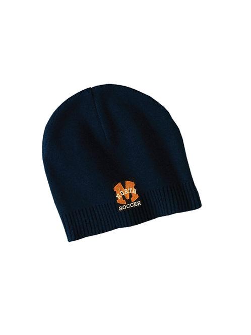Navy Beanie w/Embroidery