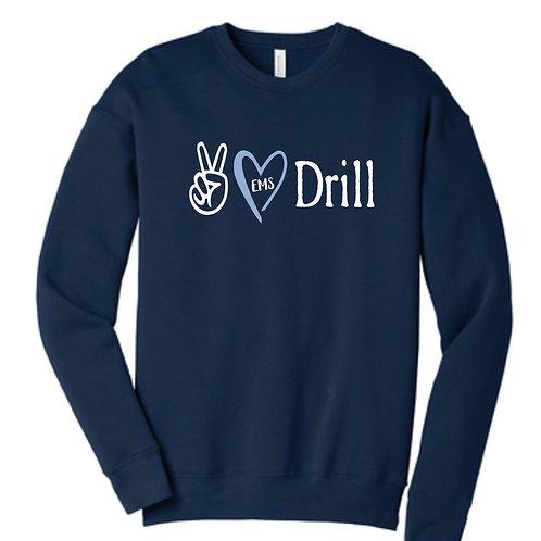 Bella Canvas Navy Crewneck Sweatshirt