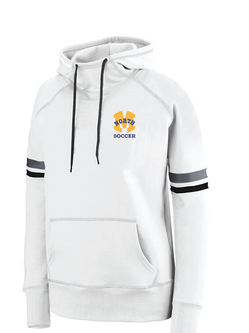 Augusta Ladies White Pullover Hoodie w/Embroidery