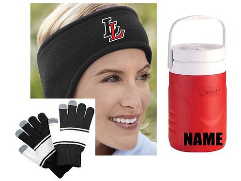 Ear Warmer/Gloves/Water Jug Package