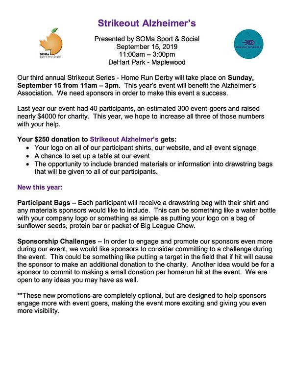 Strikeout Alzheimer's Sponsorship Inform
