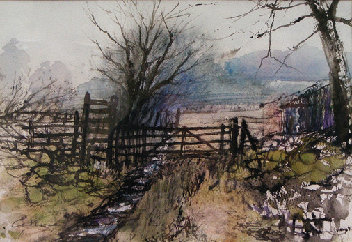 Flooded path, Lanton