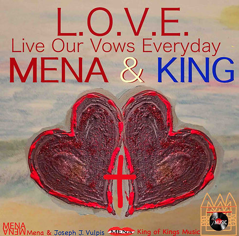 LOVE Live our vows everyday mena and kin