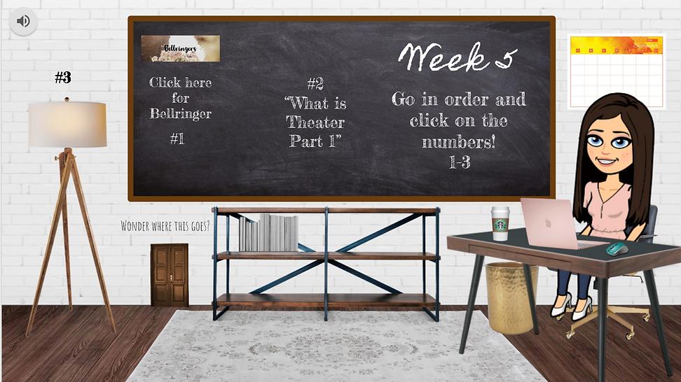 Week 4 Bitmoji Classroom