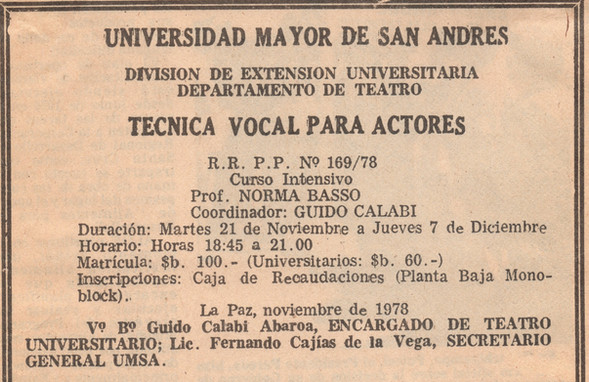Stage Bolivia