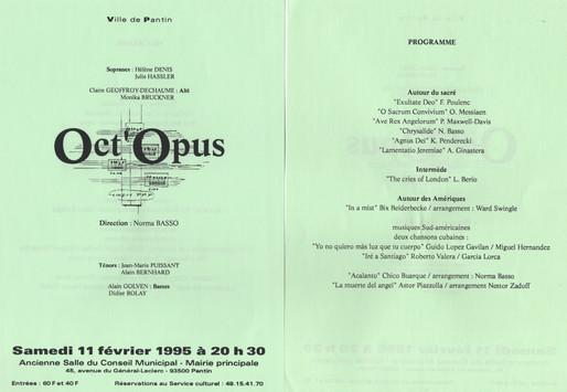 Oct'Opus  Programa Pantin