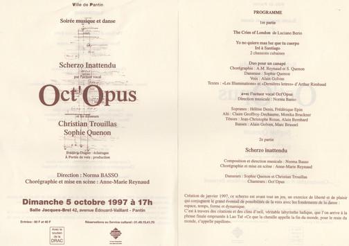 Oct'Opus  Programa Scherzo