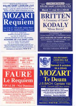 Programas de conciertos San Michel