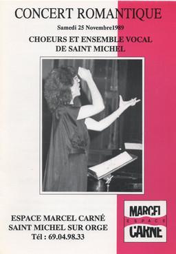 Programa de concierto Les Choeurs de St