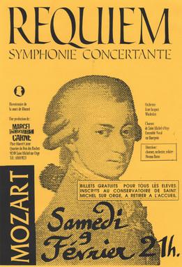 Programa de concierto Requiem de Mozart
