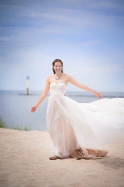 Gorgeous Bride in Frankfort Beach