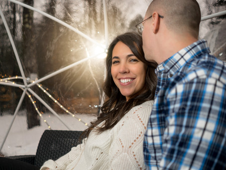 Hop Lot Igloo Engagement Photos | What to Bring to a Winter Session