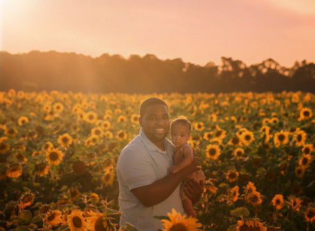 What If My Baby Cries On Picture Day | Traverse City Family Photographer | Sunflower Sunset with And