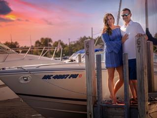 Engagement Photos Traverse City | West Bay and Power Island | Brady & Sarah's #BoatLife