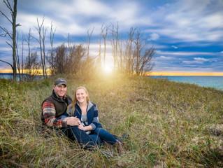 Traverse City Engagement Photographer | Cory & Jordan Fall Engagement Photos