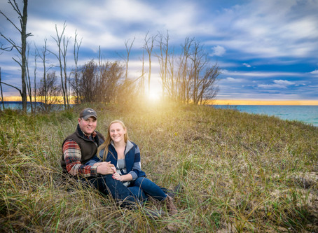 Traverse City Engagement Photographer | Cory & Jordan Fall Engagement Photos