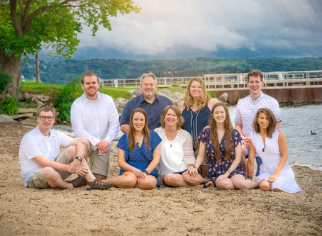 Family Pictures on a Secret Traverse City Beach