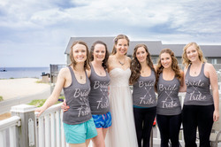 Bride with bridesmaids in Frankfort