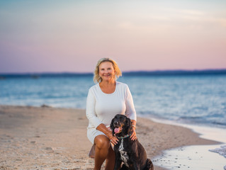 Traverse City Pet Photography on the Beach {Ft. Sue Summers and Reggie}