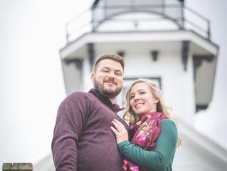Northern Michigan Vineyard Engagement Photographer | Amanda & Eric ft. Fletcher