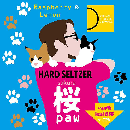 Sakura Paw ver.2 (Raspberry/Lemon) - Hard Seltzer - 330ml x6