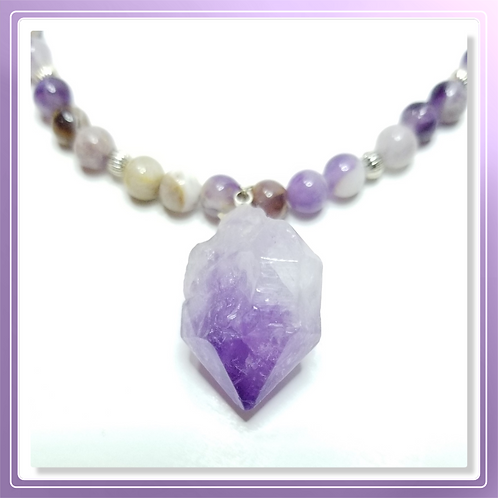 Amethyst Bead and Organic Nugget Pendant