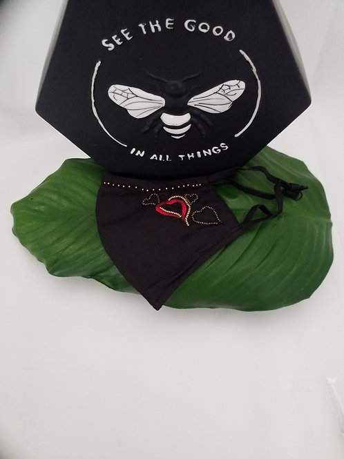 Mary Frances Mask (Full of Love) shipping is included in cost.
