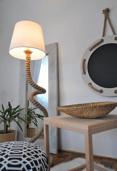 Designerska lampa podłogowa ze sznura