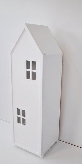 """Regał z drzwiami """"Miasto"""" biały 150/45/40 cm."""