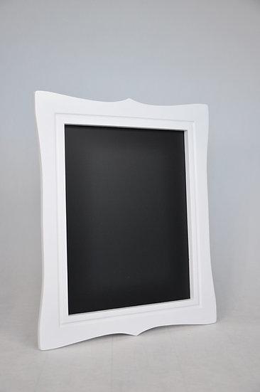 Tablica magnetyczno-kredowa stylizowana - biała