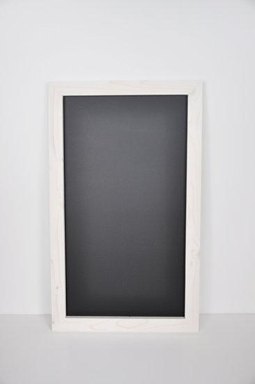 Tablica magnetyczno-kredowa prosta - bejca biała