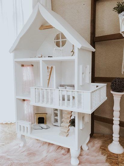 Domek dla lalek Charlotte z balkonem tarasem